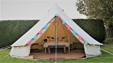 Bridal bell tents for weddings Cotswolds - Bridal Bell Suite