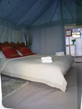 Luxury tents for hire Cirencester Gloucestershire - Luxury Gold Shikar Tent