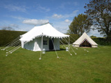 Bell glamping tents Cotswolds Gloucestershire and Indian Shikar tents for hire