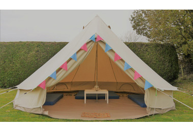 Bell tent hire Cheltenham Cotswolds